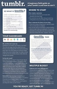 A Poster/Infographic on how to use the basics of tumblr.
